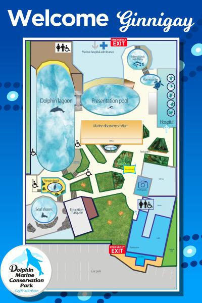 Dolphin Marine Conservation Park Map
